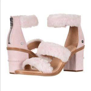 UGG Del Rey Fluff Heel in Seashell Pink NEW